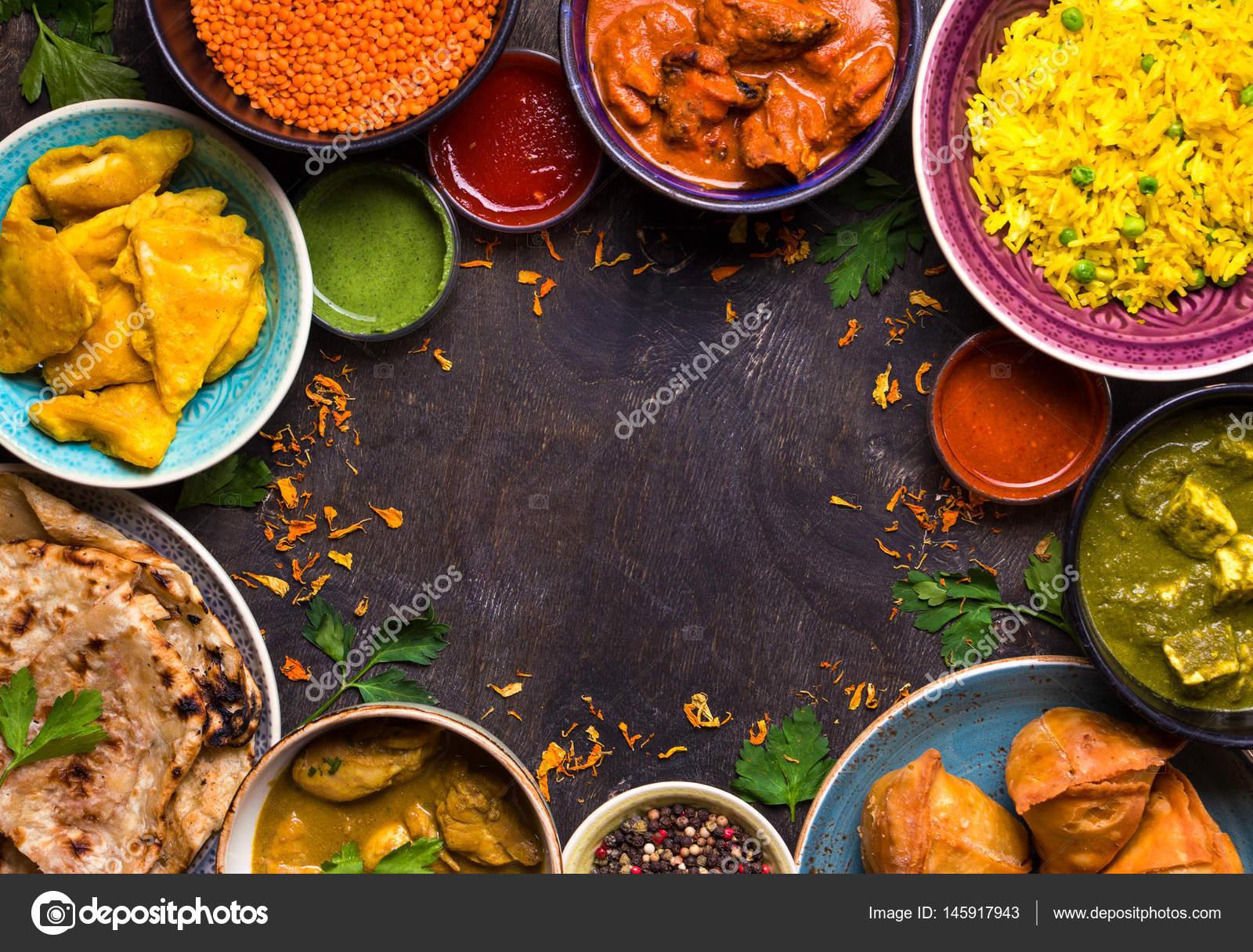Verschiedene Indische Kuche Stockfoto C Somegirl 145917943