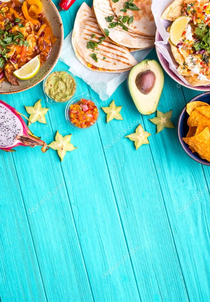 Mexican food background — Stock Photo © somegirl #149436968