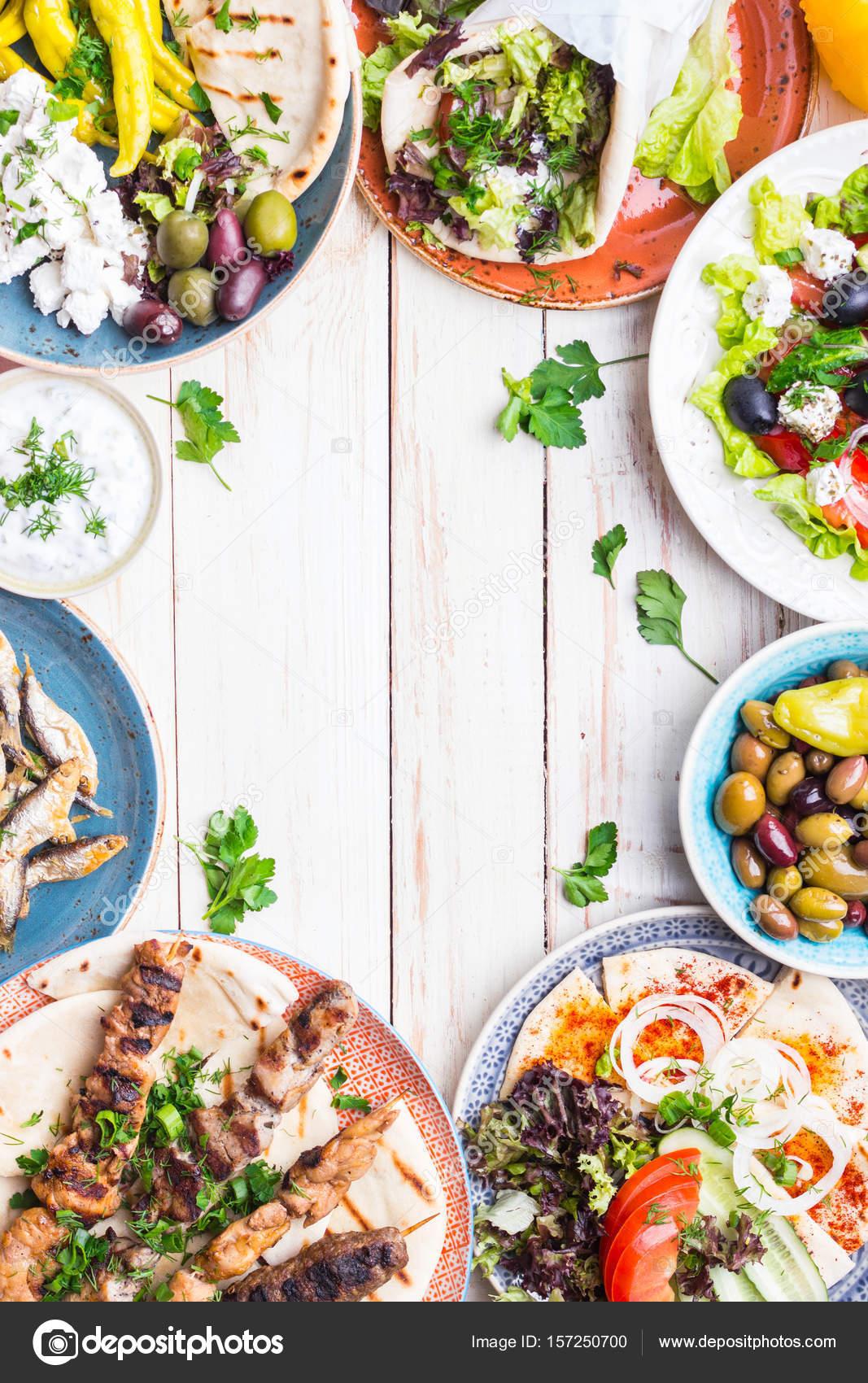 Griechische Küche-Hintergrund — Stockfoto © somegirl #157250700