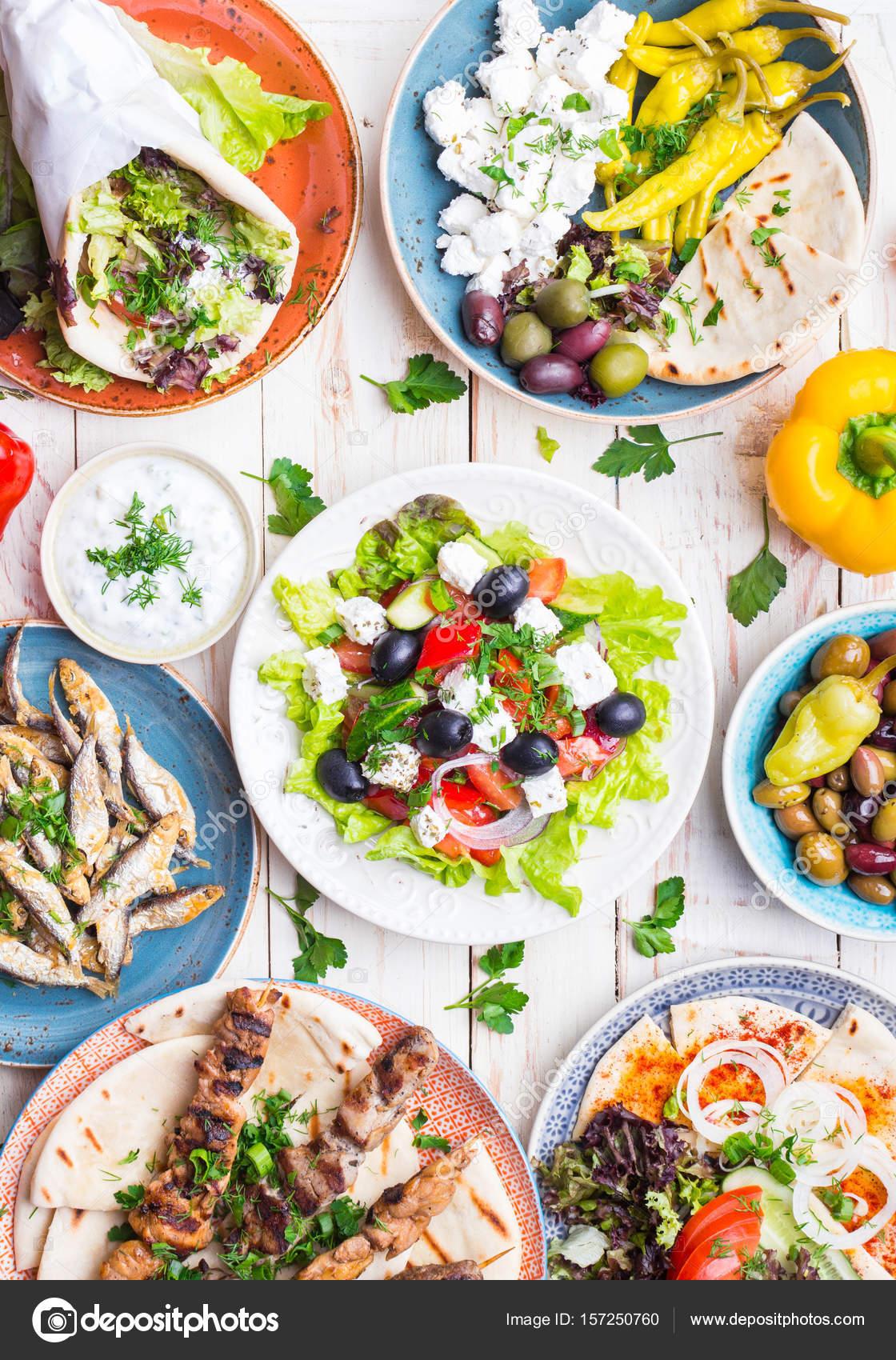 Griechische Küche-Set — Stockfoto © somegirl #157250760