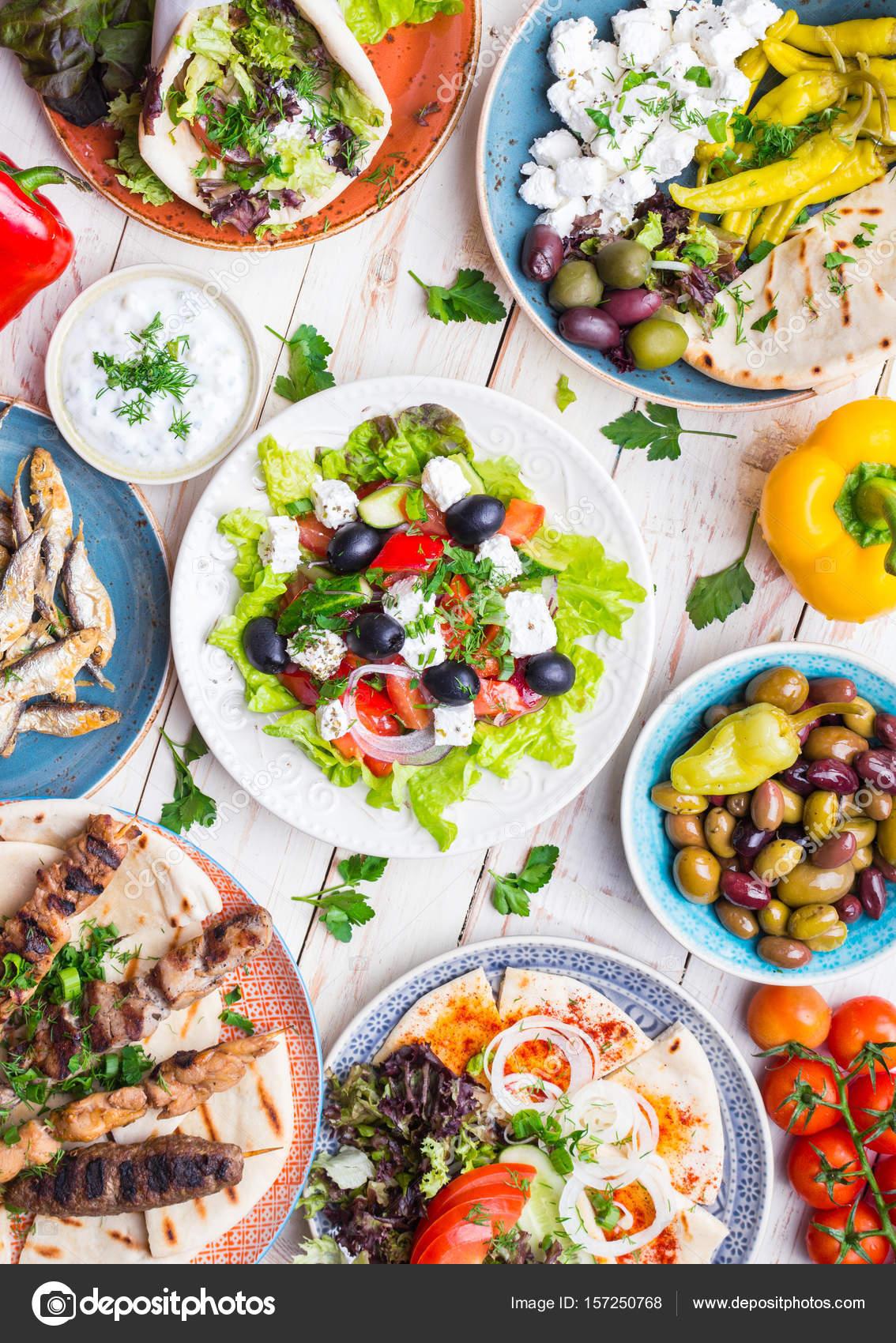 Griechische Küche-Set — Stockfoto © somegirl #157250768
