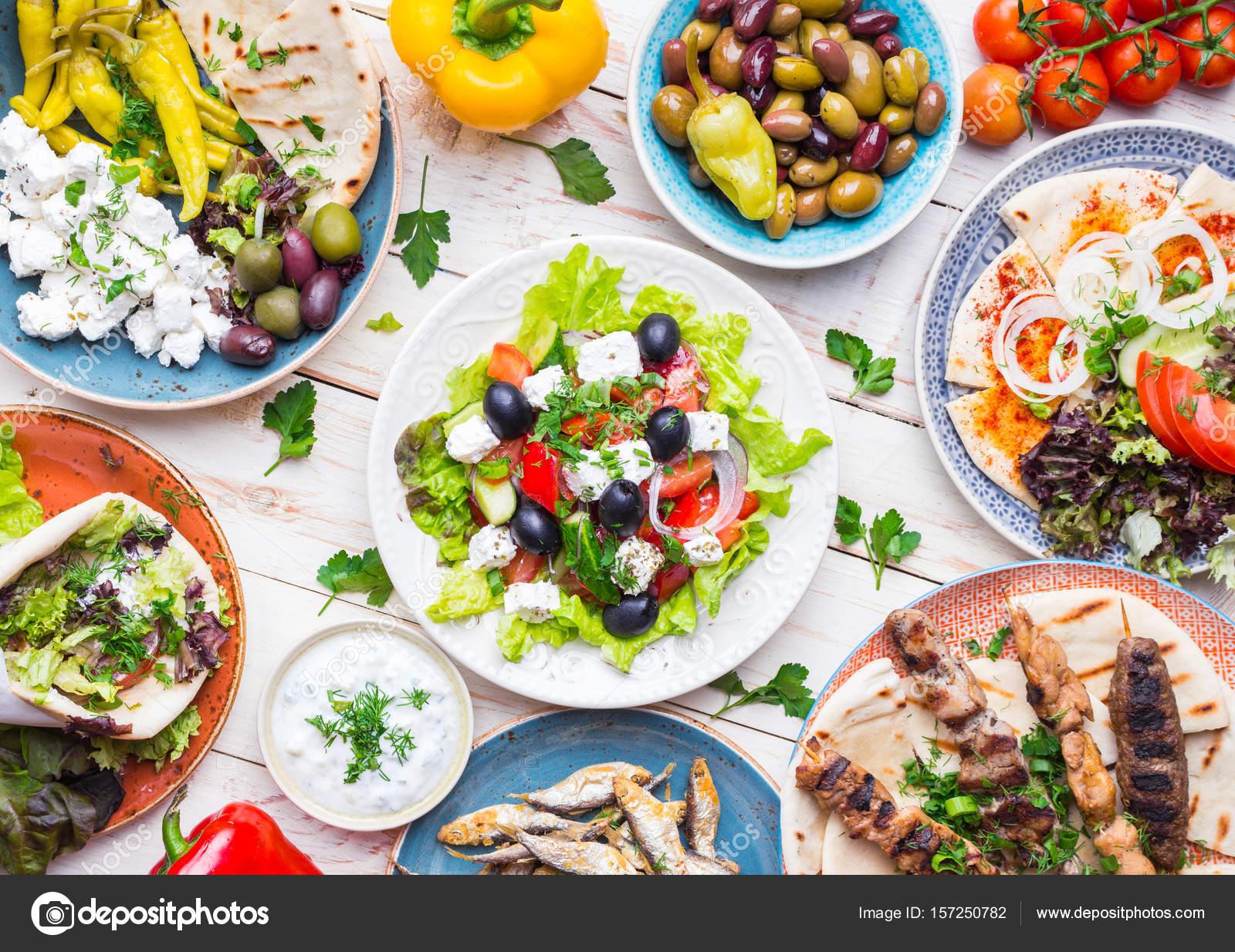Griechische Küche-Set — Stockfoto © somegirl #157250782