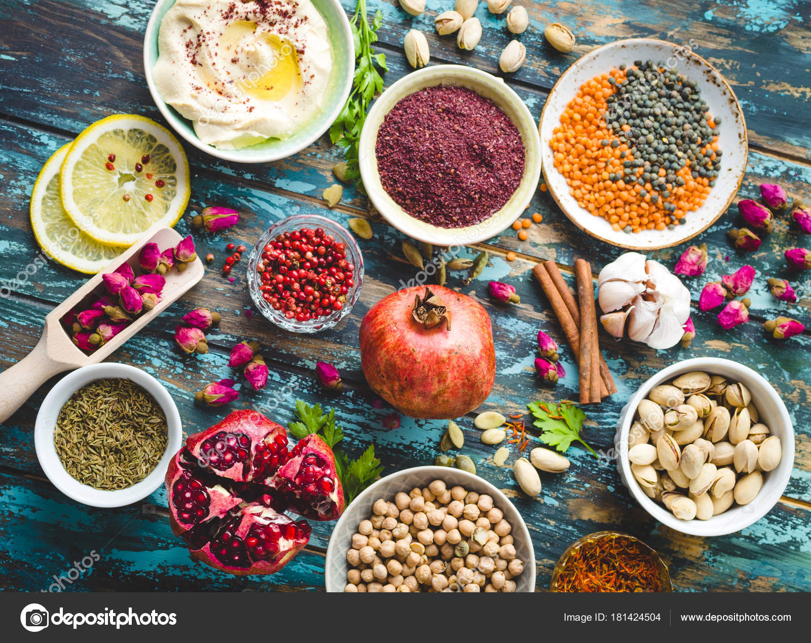 Arab ingredients for middle eastern food — Stock Photo