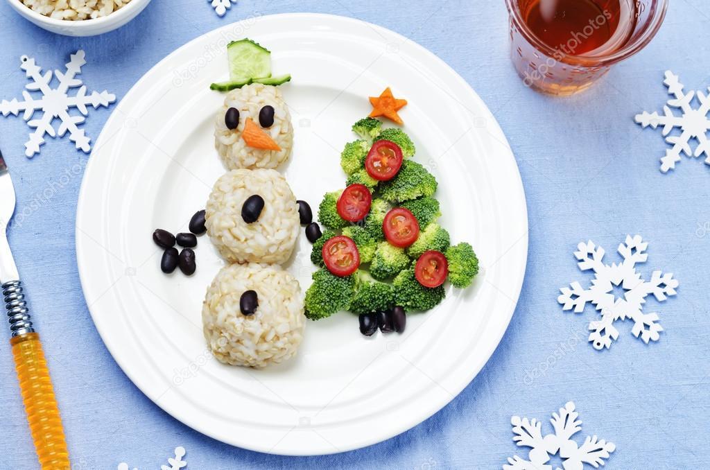 comida navidad ninos