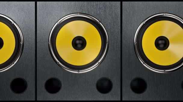 Kamera mutatja audio hangszórók játszik modern ritmikus zene 90bpm zökkenőmentes hurok