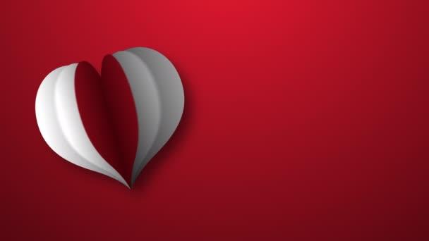 záběry srdce na červenou kopii prostor pro pozadí