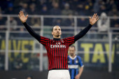 MILAN, ITALY - FEBRUARY 17, 2020: Zlatan Ibrahimovic of AC Milan
