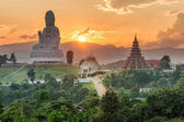 Fotografie Temple wat hyua pla kang (Chinese temple) Chiang Rai, Asia Thail