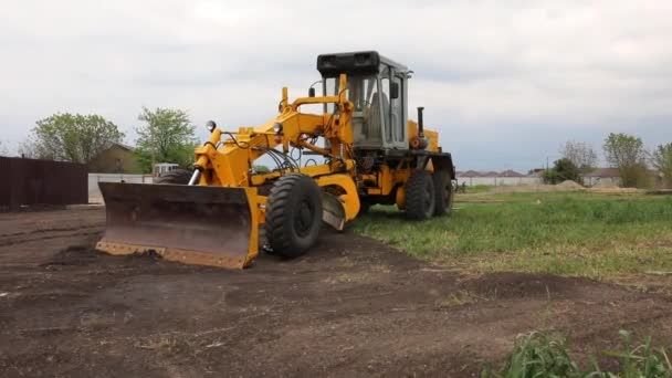Yellow bulldozer with bucket. Wheel Loader. Yellow Front Loader. Heavy Equipment Machine. Tractor Front Loader. Construction Machinery.