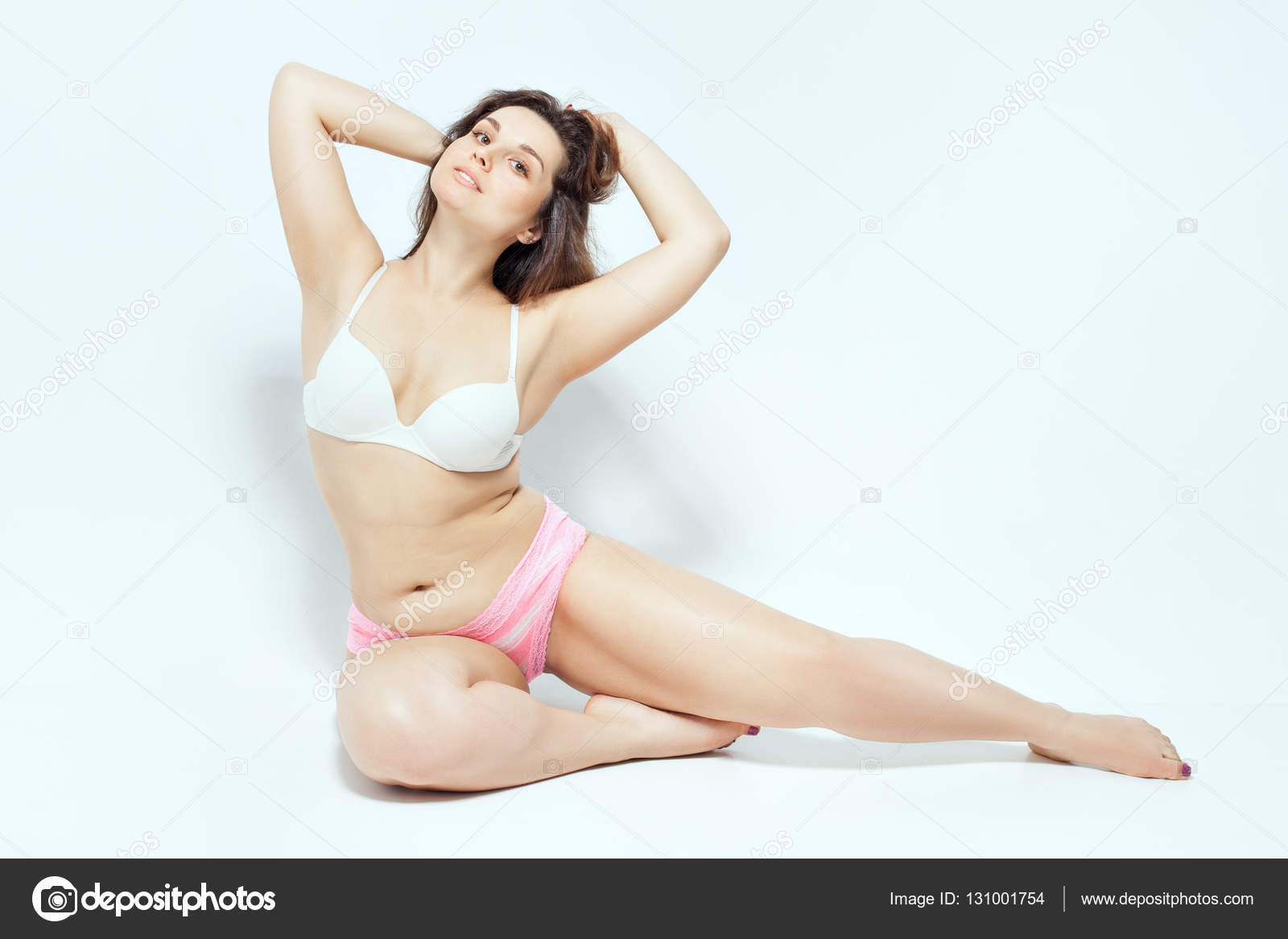 Plump girl in underwear — Stock Photo © Silkstocking  131001754 3656c45fc