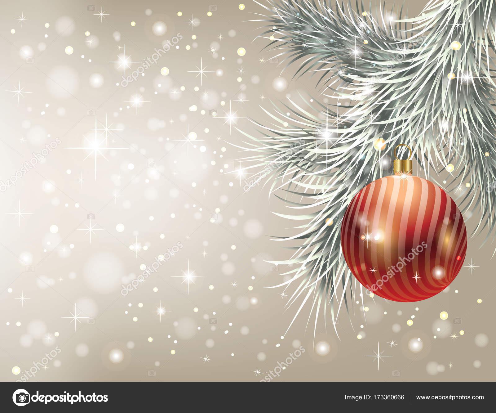 Elegant Christmas Background With Snowflakes Stock Vector: Elegant Christmas Background With Red Christmas Toy