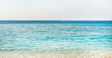 Clear water of Mediterranean sea at Cleopatra beach