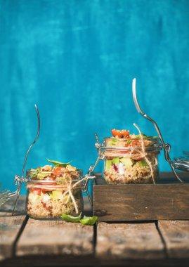 Homemade quinoa salads