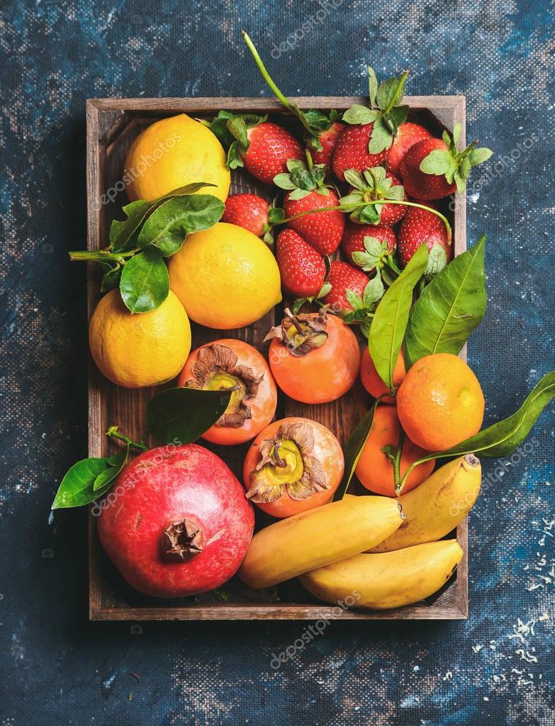 Healthy fresh fruits variety