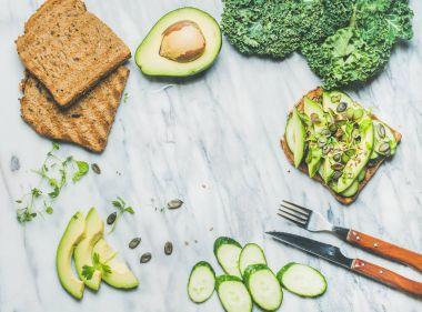 veggie breakfast concept