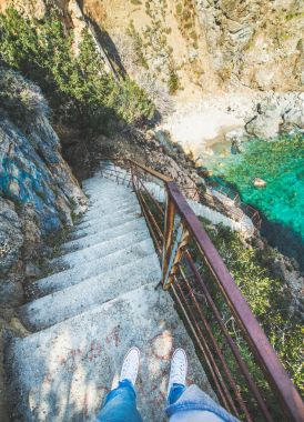 Stairs down to secret lagoon