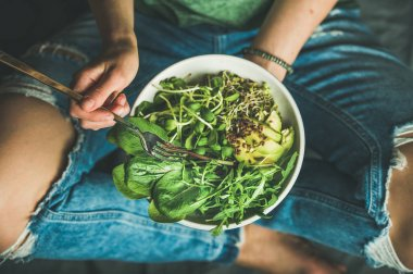 Green vegan breakfast