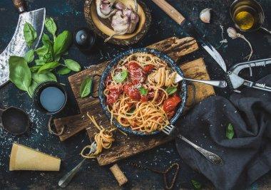 Italian style pasta dinnering pasta