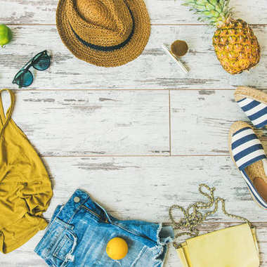 Colorful summer fashion outfit