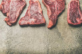fresh raw beef meat steaks