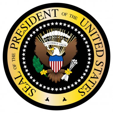 Presidential Seal Black And Gold