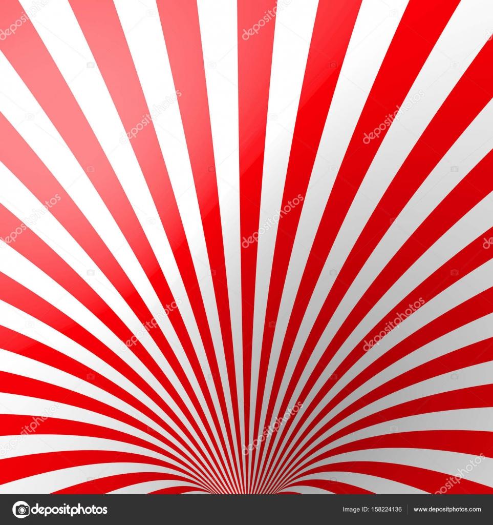 Fundo listrado volum trico vermelho cone de papel de - Papel de pared de rayas ...