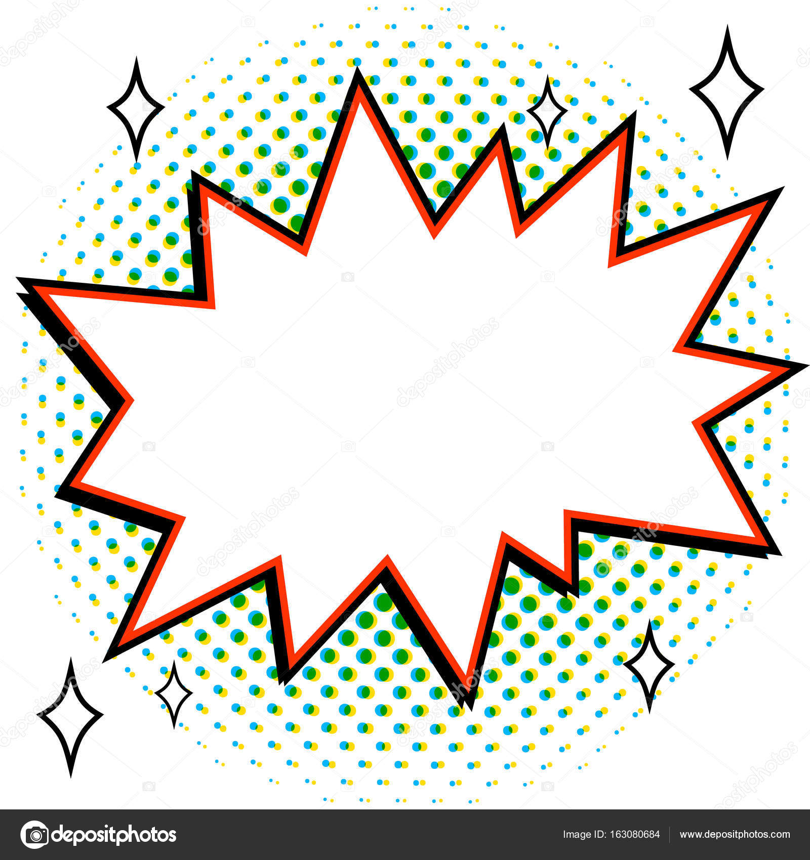 pop art styled speech bubble template for your design comics pop