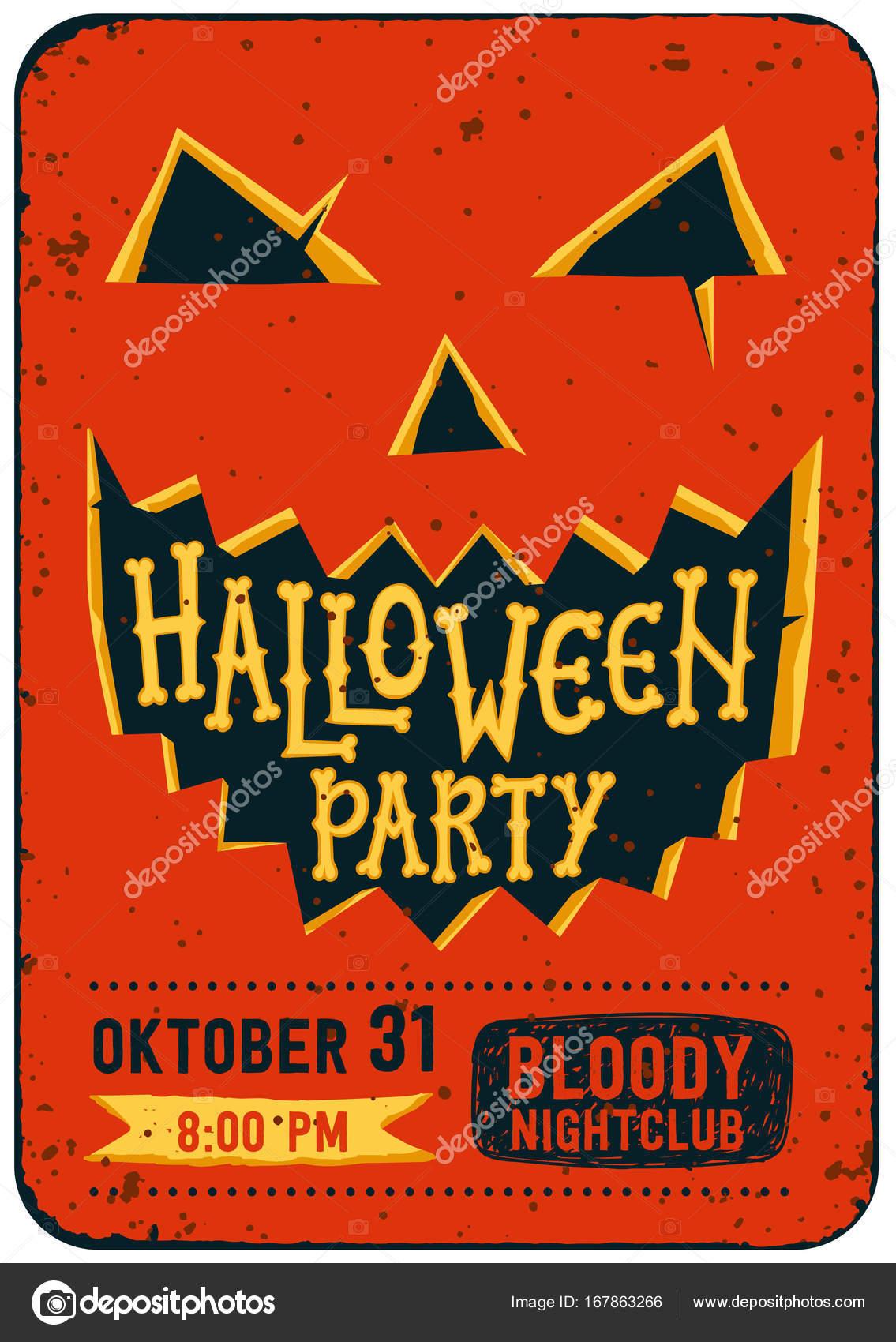 Halloween Party Invitation Card Halloween Pumpkin With