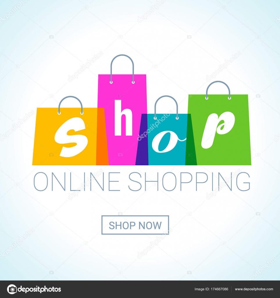 9f9e2a2eb582f Интернет-магазины. Логотип сумки с надписью магазин. Интернет магазин  концепции. Векторные иллюстрации — Вектор от mspoint