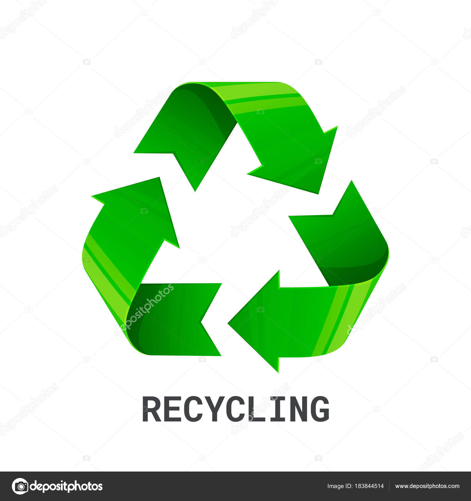 Recycling green recycle eco symbol isolated on white background recycling green recycle eco symbol isolated on white background recycled arrows sign buycottarizona Choice Image
