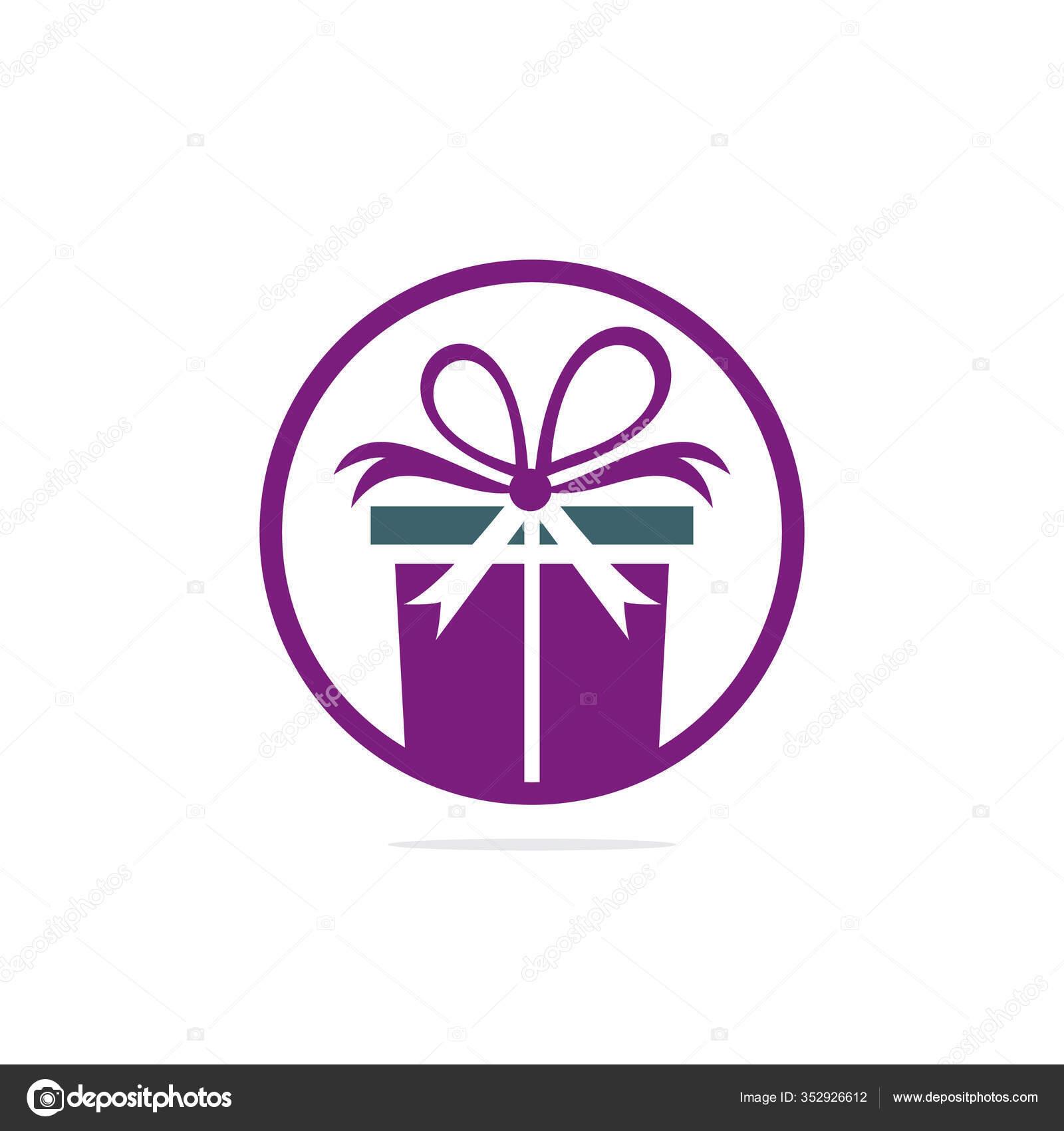 Gift Box Vector Logo Design Illustration Gift Box Present Greeting Stock Vector C Umerdeartist 352926612