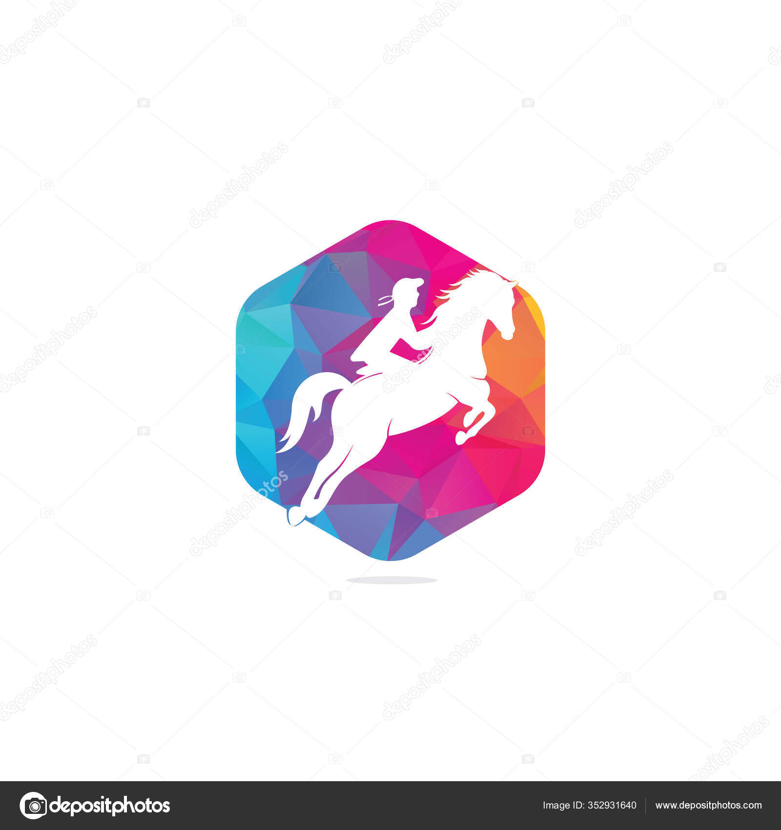 Racing Horse Jockey Logo Design Icons Equestrian Sport Logo Jockey Stock Vector C Umerdeartist 352931640
