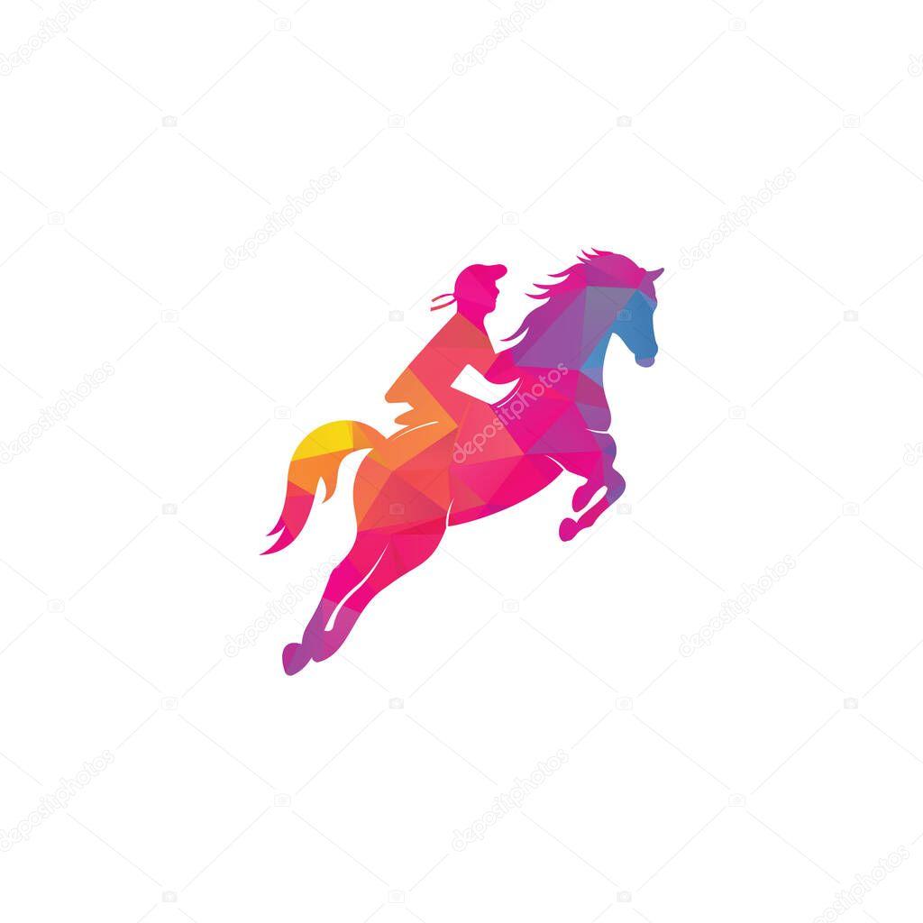 Racing Horse With Jockey Logo Design Icons Equestrian Sport Logo Jockey Riding Jumping Horse Horse Riding Logo Premium Vector In Adobe Illustrator Ai Ai Format Encapsulated Postscript Eps Eps Format