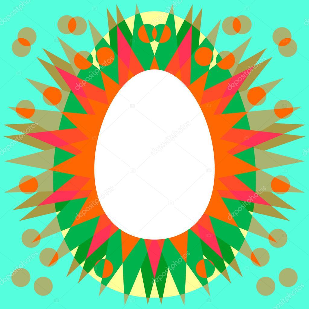 Huevo con forma de marco radiante — Fotos de Stock © Iguanasbear ...