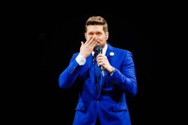 AMSTERDAM, NETHERLANDS - NOVEMBER 2, 2019: Michael Buble concert show in Ziggo Dome indoor arena.