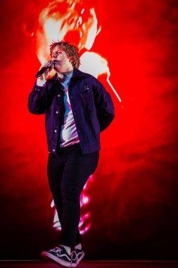 AMSTERDAM, NETHERLANDS - FEBRUARY 13, 2020: Concert of Lewis Capaldi at AFAS Live concert hall.