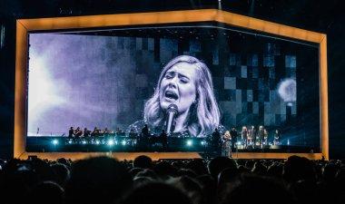 Singer Adele at Ziggo Dome on June 4, 2017 in Amsterdam, Netherlands