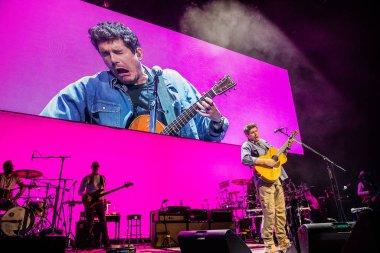 Singer John Mayer at Ziggo Dome on October 9, 2019 in Amsterdam, Netherlands