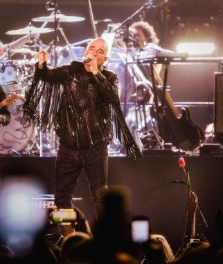 Singer Eros Ramazzotti at Ziggo Dome on April , 2019 in Amsterdam, Netherlands