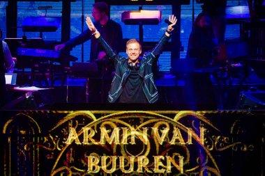 DJ Armin Van Buuren at Ziggo Dome on October 18, 2019 in Amsterdam, Netherlands