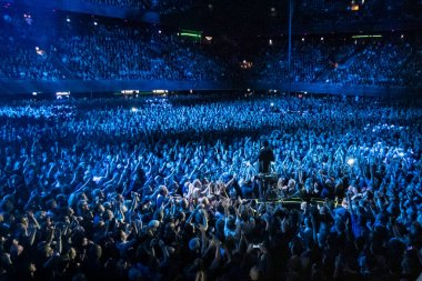 Singer Nick Cave at Ziggo Dome on October 6, 2017 in Amsterdam, Netherlands