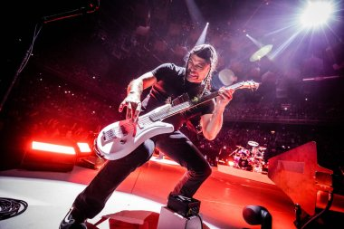 Heavy metal band at Ziggo Dome on September 6, 2017 in Amsterdam, Netherlands