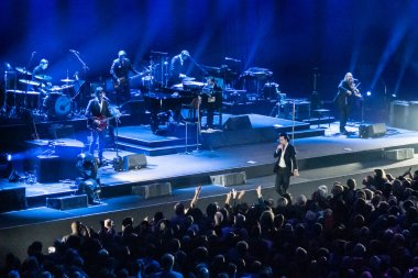 Singer Nick Cave at Ziggo Dome on October 6, 2017 in Amsterdam, Netherlands