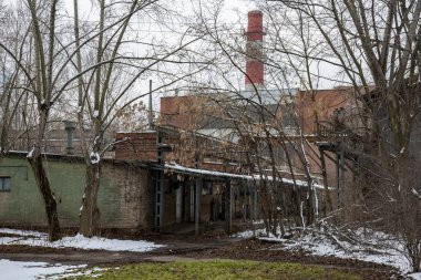 Abandoned building of the aircraft factory. Moscow