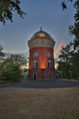 Muelheim - View to Front of Watertower with Camera Obsccura, the 250,000 Euro project was financed entirely through donations, North Rhine Westphalia, Germany, Muelheim, 30.07.201