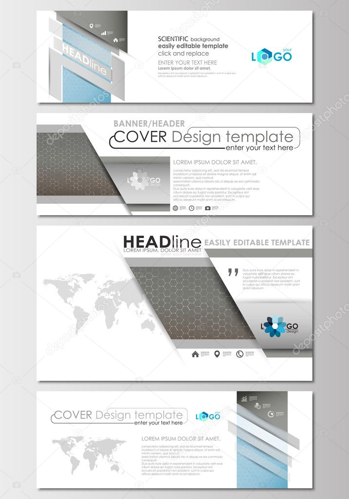 Social media and email headers set modern banners business social media and email headers set modern banners business templates cover template flashek Gallery