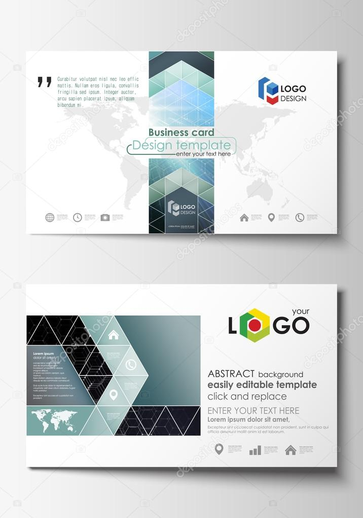 Business card templates cover template easy editable abstract business card templates cover template easy editable abstract flat design vector layout chemistry pattern hexagonal molecule structure colourmoves