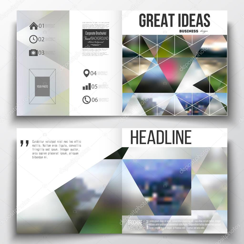 Conjunto de plantillas de negocio informe anual para el folleto ...