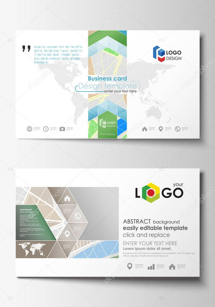Business card templates easy editable layout city map with streets business card templates easy editable layout city map with streets flat design cover template for tourism businesses abstract vector illustration colourmoves