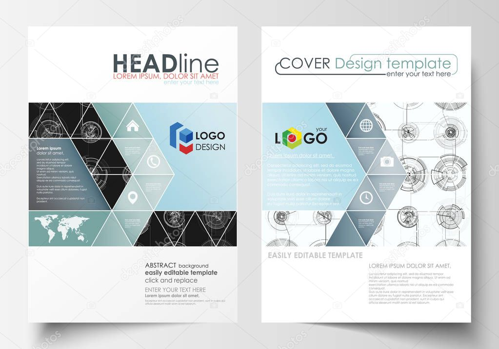 Business Templates For Brochure Magazine Flyer Cover Template